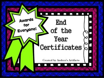 End of the Year Awards Editable Edition