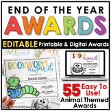End of the Year Awards - EDITABLE   Printable   Digital  