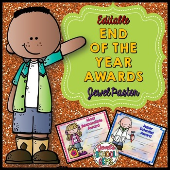 End of the Year Awards Editable (Colored Editable Reward ...