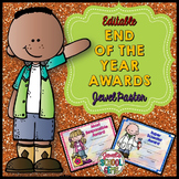 End of the Year Awards Editable (Colored Editable Reward C