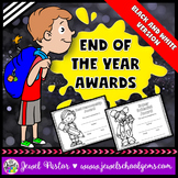 End of the Year Awards Editable (Black and White Editable