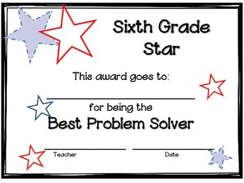End of the Year Awards - Sixth Grade