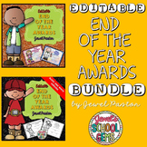 End of the Year Awards Editable BUNDLE (Editable Reward Certificates)