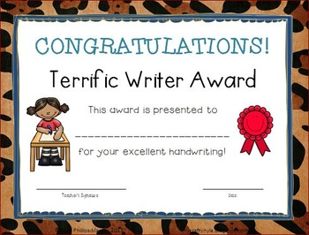 End of the Year Awards - Animal Print Borders