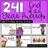 241 Editable Digital Superlatives & End of the Year Awards for Distance Learning