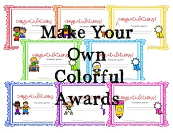 Editable End of the Year Awards