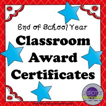 End of School Classroom Award Certificates