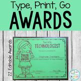 End of the Year Awards: Editable, Classroom Awards, Boy an