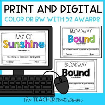 End of the Year Awards: Editable   Student Awards   Editable Awards
