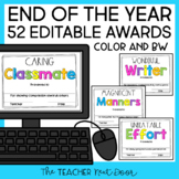 End of the Year Awards Editable Print and Digital Distance Learning