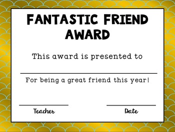End of the Year Awards (30 awards in Gold/Blue Style)