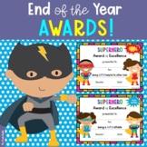 End of the Year Awards - Editable (Superhero Themed, Last