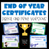 End of the Year Awards (32 Colorful Certificates)