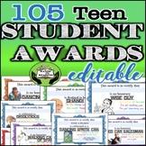 TEEN STUDENT AWARDS- EDITABLE