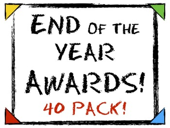 END OF THE YEAR AWARDS! Includes 40 Certificates!