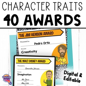 End of the Year Awards: 40 Character Traits & Historical People