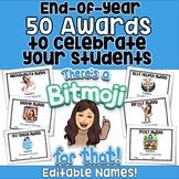End of the Year Awards - 50 Bitmoji Awards (editable)