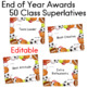 End of the Year Awards 50 Superlatives SPORTS THEME Editable