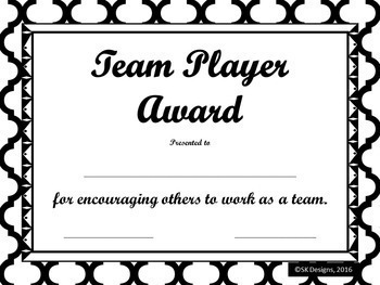Awards 69 Different Editable Student Certificates Black and White Printable