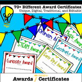 Awards 70+ Different Editable Certificates Printable for the end of the year