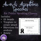 End-of-the-Year Awards Acceptance Speeches for Public Speaking