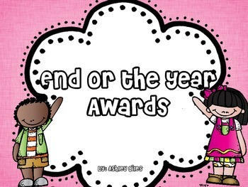 End of the Year Awards {And the Award Goes too...}