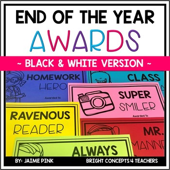 End of the Year Awards {Black & White}