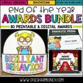 110 Printable & Digital End of the Year Awards Bundle   Virtual Awards Ceremony