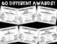 60 Printer-Friendly, Camping Theme End-of-the-Year Awards! 5 EDITABLE Pages!