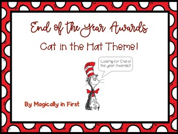 End of the Year Awards - Inspired Cat in the Hat