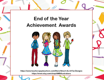 End of the Year Awards-Celebrate With A Student Theme