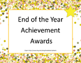 End of the Year Awards-Celebrate With A Confetti Theme