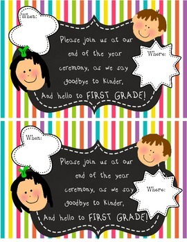 End of the Year Awards Ceremony Parent Invitation