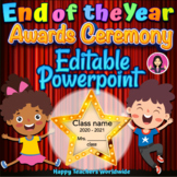 End of the Year Awards Ceremony Powerpoint Slideshow Editable