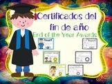 End of the Year Awards - Certificados del fin de año - Spanish