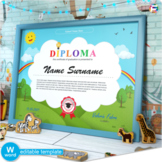 Editable Certificate | Diploma | End of the Year Awards |