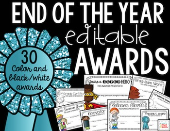 Awards & Certificates - Editable Awards {Color and B/W} En