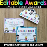 End of the Year Awards - Editable Certificates and Crowns