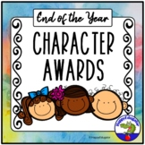 End of the Year Awards - Character {EDITABLE} End of Year Awards