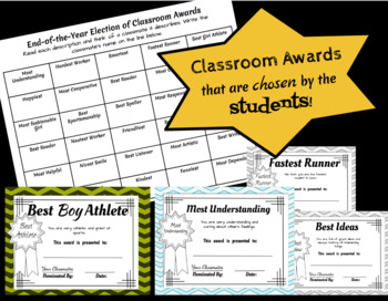 End of the Year Awards: Chosen by the students