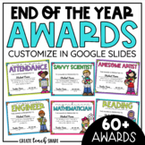 End of the Year Awards | Customizable in Google Slides | D