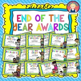 End of the Year Awards EDITABLE {Color and B/W}