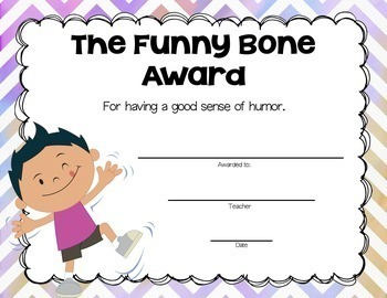 End of the Year Classroom Awards Editable