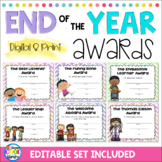End of the Year Classroom Awards Editable   Google Slides and Print