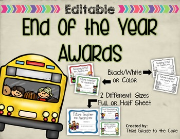 End of the Year Awards - Editable