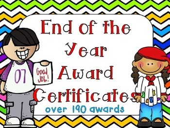 End of the Year Awards- Editable Chevron Rainbow