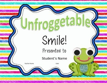 END OF YEAR AWARDS EDITABLE - FROG THEMED