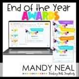 End of the Year Awards   Editable   Printable   Digital  