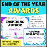 Editable End of the Year Awards Printable and Digital | Virtual Classroom Awards