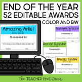 End of the Year Awards: Editable | Student Awards Editable